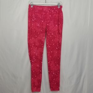 The North Face Pink Printed Leggings Size S